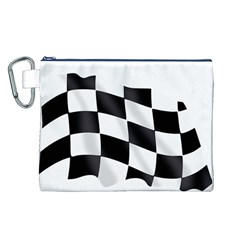 Flag Chess Corse Race Auto Road Canvas Cosmetic Bag (l) by Amaryn4rt