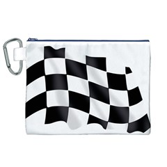 Flag Chess Corse Race Auto Road Canvas Cosmetic Bag (xl)