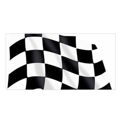 Flag Chess Corse Race Auto Road Satin Shawl by Amaryn4rt