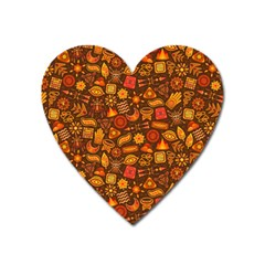 Pattern Background Ethnic Tribal Heart Magnet by Amaryn4rt