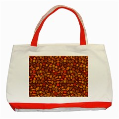 Pattern Background Ethnic Tribal Classic Tote Bag (Red) by Amaryn4rt