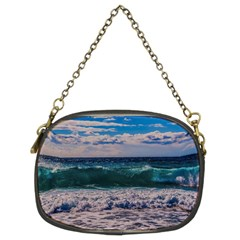 Wave Foam Spray Sea Water Nature Chain Purses (two Sides)  by Amaryn4rt
