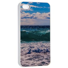 Wave Foam Spray Sea Water Nature Apple Iphone 4/4s Seamless Case (white)
