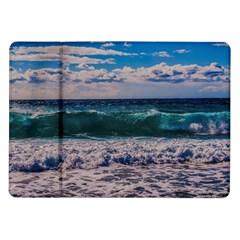 Wave Foam Spray Sea Water Nature Samsung Galaxy Tab 10 1  P7500 Flip Case by Amaryn4rt