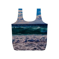 Wave Foam Spray Sea Water Nature Full Print Recycle Bags (s)  by Amaryn4rt