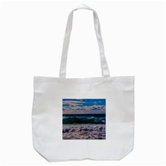 Wave Foam Spray Sea Water Nature Tote Bag (white) by Amaryn4rt