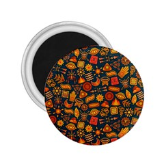 Pattern Background Ethnic Tribal 2.25  Magnets