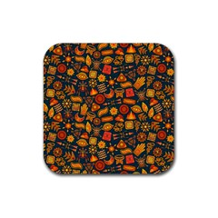 Pattern Background Ethnic Tribal Rubber Square Coaster (4 Pack)  by Amaryn4rt