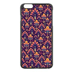 Abstract Background Floral Pattern Apple Iphone 6 Plus/6s Plus Black Enamel Case by Amaryn4rt