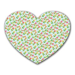 Flowers Roses Floral Flowery Heart Mousepads by Amaryn4rt
