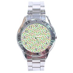 Flowers Roses Floral Flowery Stainless Steel Analogue Watch by Amaryn4rt