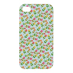 Flowers Roses Floral Flowery Apple Iphone 4/4s Premium Hardshell Case by Amaryn4rt