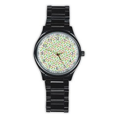Flowers Roses Floral Flowery Stainless Steel Round Watch by Amaryn4rt