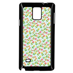 Flowers Roses Floral Flowery Samsung Galaxy Note 4 Case (black) by Amaryn4rt