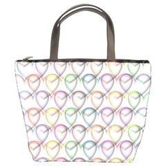 Valentine Hearts 3d Valentine S Day Bucket Bags by Amaryn4rt