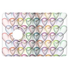 Valentine Hearts 3d Valentine S Day Kindle Fire Hdx Flip 360 Case by Amaryn4rt