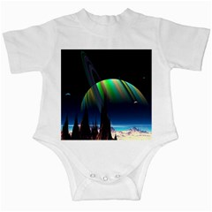 Planets In Space Stars Infant Creepers by Amaryn4rt