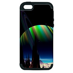Planets In Space Stars Apple Iphone 5 Hardshell Case (pc+silicone) by Amaryn4rt