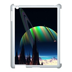 Planets In Space Stars Apple Ipad 3/4 Case (white) by Amaryn4rt