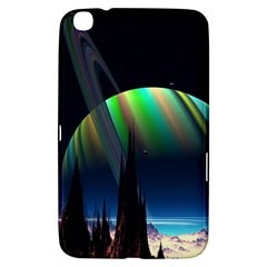 Planets In Space Stars Samsung Galaxy Tab 3 (8 ) T3100 Hardshell Case  by Amaryn4rt