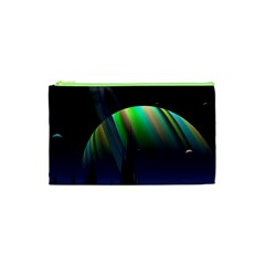 Planets In Space Stars Cosmetic Bag (xs) by Amaryn4rt
