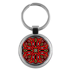Traditional Art Pattern Key Chains (round)  by Amaryn4rt