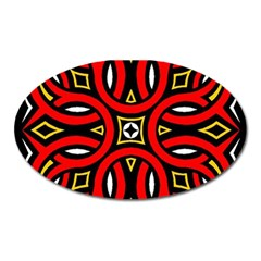 Traditional Art Pattern Oval Magnet by Amaryn4rt