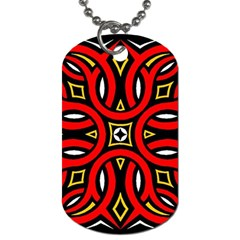 Traditional Art Pattern Dog Tag (two Sides) by Amaryn4rt