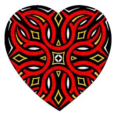 Traditional Art Pattern Jigsaw Puzzle (heart) by Amaryn4rt