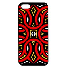 Traditional Art Pattern Apple Iphone 5 Seamless Case (black) by Amaryn4rt