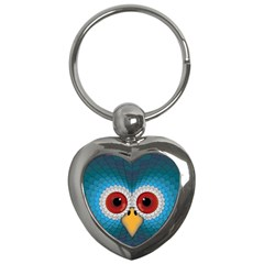 Bird Eyes Abstract Key Chains (heart)  by Amaryn4rt