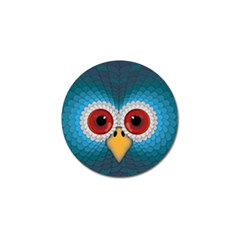 Bird Eyes Abstract Golf Ball Marker