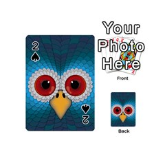 Bird Eyes Abstract Playing Cards 54 (mini)  by Amaryn4rt
