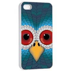 Bird Eyes Abstract Apple Iphone 4/4s Seamless Case (white)