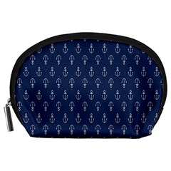 Anchor Pattern Accessory Pouches (large)  by Amaryn4rt