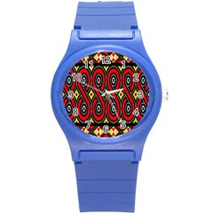 Toraja Traditional Art Pattern Round Plastic Sport Watch (s)