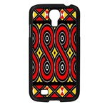 Toraja Traditional Art Pattern Samsung Galaxy S4 I9500/ I9505 Case (Black) Front