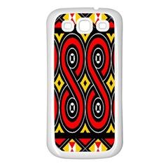 Toraja Traditional Art Pattern Samsung Galaxy S3 Back Case (white) by Amaryn4rt
