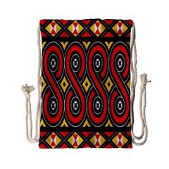 Toraja Traditional Art Pattern Drawstring Bag (Small)