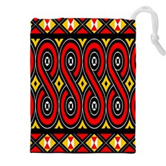 Toraja Traditional Art Pattern Drawstring Pouches (xxl) by Amaryn4rt