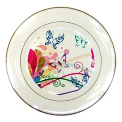 Butterfly Vector Art Porcelain Plates by Amaryn4rt