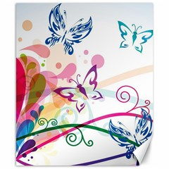 Butterfly Vector Art Canvas 8  X 10  by Amaryn4rt