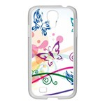 Butterfly Vector Art Samsung GALAXY S4 I9500/ I9505 Case (White) Front