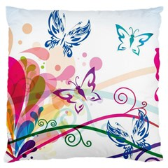 Butterfly Vector Art Standard Flano Cushion Case (two Sides)