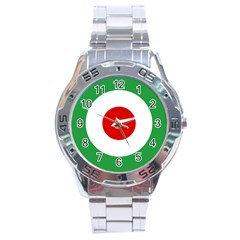 Iran Air Force Roundel Stainless Steel Analogue Watch by abbeyz71