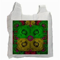 Roses Of Pure Love Recycle Bag (one Side) by pepitasart