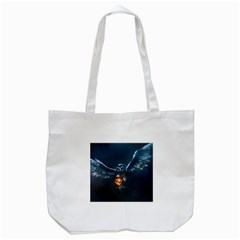 Owl And Fire Ball Tote Bag (white) by Amaryn4rt