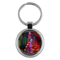 City Photography And Art Key Chains (round)  by Amaryn4rt