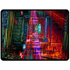 City Photography And Art Double Sided Fleece Blanket (large)  by Amaryn4rt