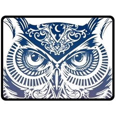 Owl Fleece Blanket (large)  by Amaryn4rt